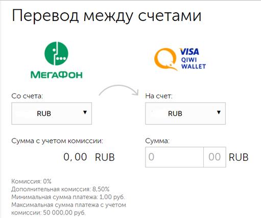 Как перевести деньги с «Мегафона» на «Киви»